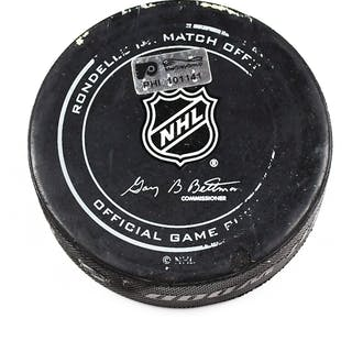 Philadelphia Flyers Game Used Puck March 19, 2016 vs. Pittsburgh Penguins