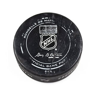 Philadelphia Flyers Game Used Puck February 13, 2016 vs. New Jersey