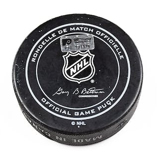 Philadelphia Flyers Game Used Puck February 2, 2016 vs. Montreal Canadiens
