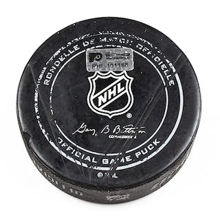 Philadelphia Flyers Game Used Puck March 7, 2016 vs. Tampa Bay Lightning