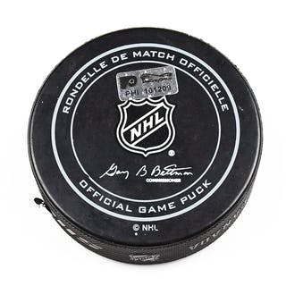 Philadelphia Flyers Game Used Puck February 6, 2016 vs. New York Rangers