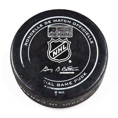Philadelphia Flyers Game Used Puck February 9, 2016 vs. Anaheim Ducks