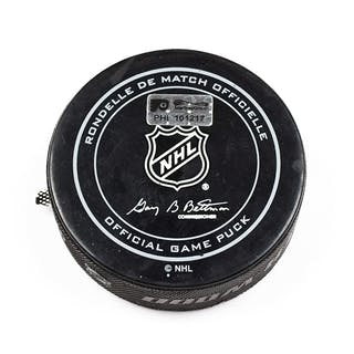 Philadelphia Flyers Game Used Puck February 9, 2016 vs. Anaheim Ducks