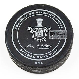 Philadelphia Flyers Game Used Puck April 18, 2016 vs. Washington Capitals