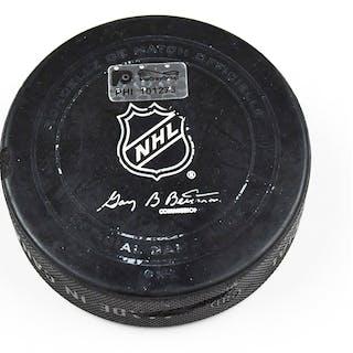 Philadelphia Flyers Game Used Puck April 2, 2016 vs. Ottawa Senators
