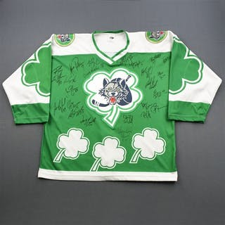 Chicago Wolves St. Patrick's Day - Autographed Chicago Wolves 1997-98