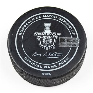 Philadelphia Flyers Game Used Puck April 24, 2016 vs. Washington Capitals