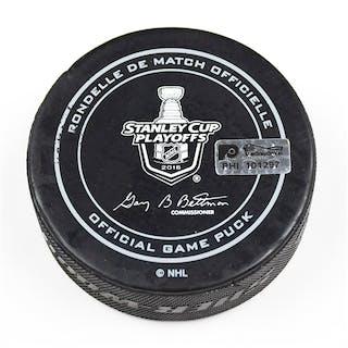 Philadelphia Flyers Game Used Puck April 20, 2016 vs. Washington Capitals