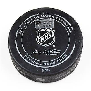 Philadelphia Flyers Game Used Puck April 9, 2016 vs. Pittsburgh Penguins