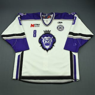 Goulet, Alain White Set 1 w/ 10th Anniversary Patch Reading Royals