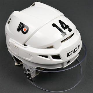 Couturier, Sean White CCM Helmet w/Visor Philadelphia Flyers 2015-16 #14