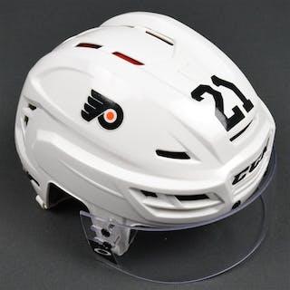 Laughton, Scott White CCM Helmet w/Visor Philadelphia Flyers 2015-16 #21