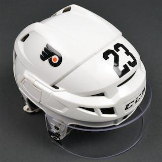 Manning, Brandon White CCM Helmet w/Visor Philadelphia Flyers 2015-16 #23