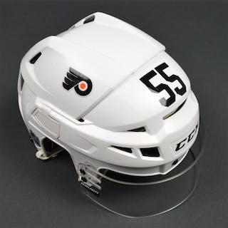 Schultz, Nick White CCM Helmet w/Visor Philadelphia Flyers 2015-16 #55