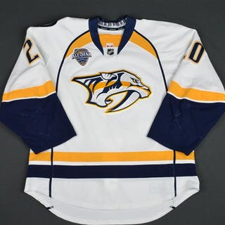 Salomaki, Miikka White Set 1 w/ All-Star Game Patch Nashville Predators
