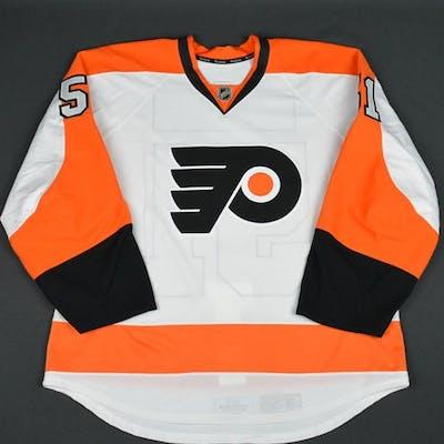 Straka, Petr White Set 1 - Game-Issued (GI) Philadelphia Flyers 2015-16