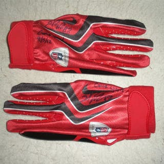 Nicks, Hakeem * Red and Black Gloves, Autographed and Inscribed New
