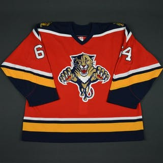 NOBR (Name on Back Removed) Red - CLEARANCE Florida Panthers #64 Size: 56
