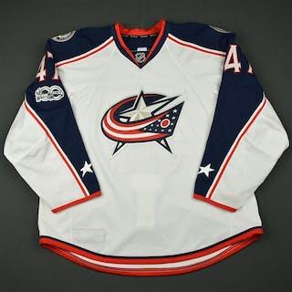 Prout, Dalton White Set 2 w/ NHL Centennial Patch Columbus Blue Jackets