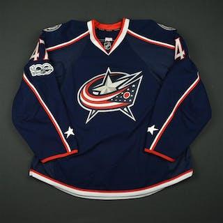 Prout, Dalton Blue Set 2 w/ NHL Centennial Patch Columbus Blue Jackets