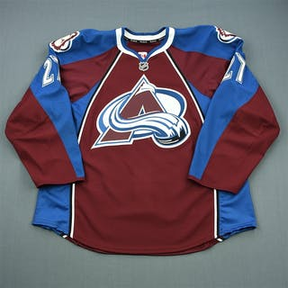 Quincey, Kyle Burgundy Set 3 - Game-Issued (GI) Colorado Avalanche