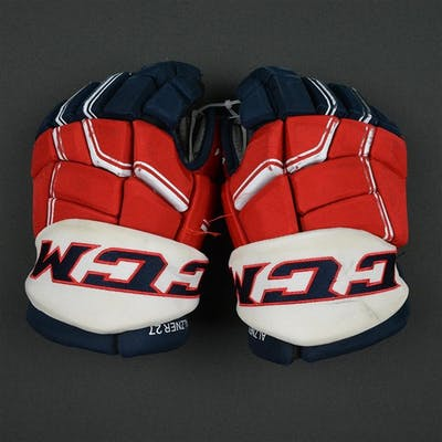 Alzner, Karl CCM Pro Gloves Washington Capitals 2016-17 Size: 14