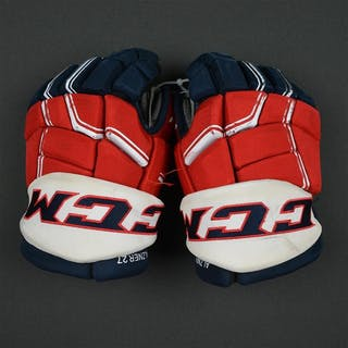 Alzner, Karl CCM Pro Gloves Washington Capitals 2016-17 Size: 14
