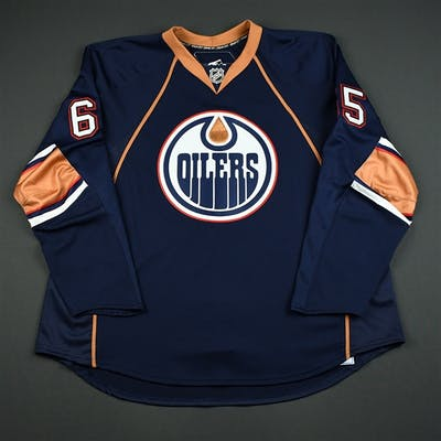 Bodie, Troy Navy Set 1 GI (RBK 1.0) Edmonton Oilers 2007-08 #65 Size: 58+