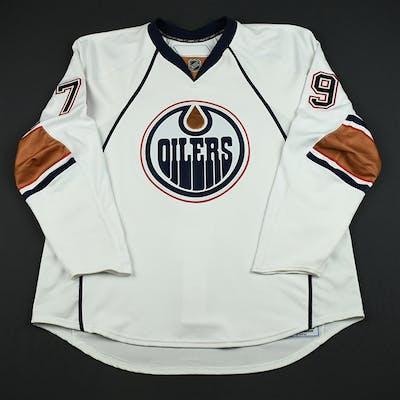 timeless design 9607f 34a75 Goulet, Stephane White Set 1 GI (RBK 1.0) Edmonton Oilers ...