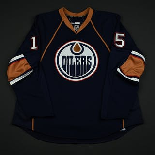NNOB Navy Set 1 GI (RBK 1.0) Edmonton Oilers 2007-08 #15 Size: 58