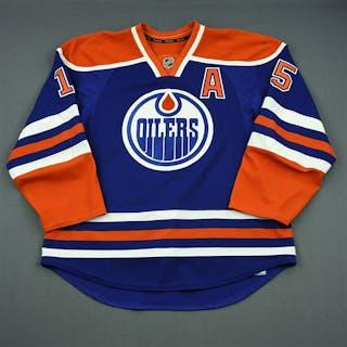 Schultz, Nick Blue Retro Set 1 w/A Edmonton Oilers 2013-14 #15 Size: 56