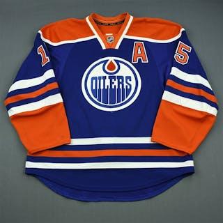 Schultz, Nick Blue Retro Set 3 w/A Edmonton Oilers 2013-14 #15 Size: 56