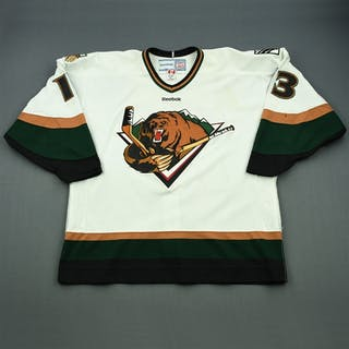 Fadden, Mitch White Set 1 (A removed) Utah Grizzlies 2011-12 #13 Size:56