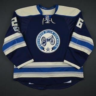 Quincey, Kyle Third Set 2 w/ NHL Centennial Patch Columbus Blue Jackets