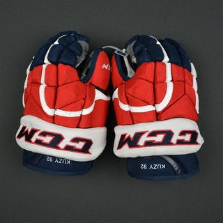 Kuznetsov, Evgeny CCM Pro Gloves Washington Capitals 2016-17 Size: 13