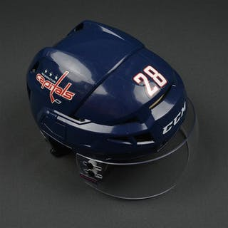 Carey, Paul Blue, CCM Helmet w/ Bauer Shield & NHL Centennial Sticker