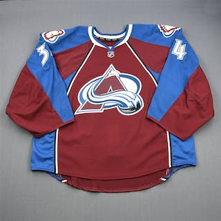 Patterson, Kent Burgundy Set 1 - Game-Issued (GI) Colorado Avalanche