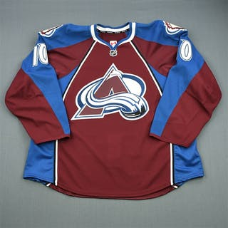 Pock, Thomas Burgundy Set 1 - Game-Issued (GI) Colorado Avalanche