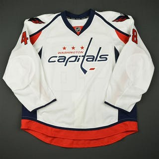 Monardo, Domenic White Set 1 - Game-Issued (GI) Washington Capitals