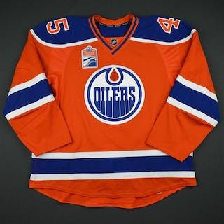 Beck, Taylor Orange Set 1 w/ Rogers Place Inaugural Season Patch Edmonton