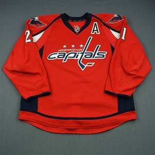 Laich, Brooks Red Set 2 w/A Washington Capitals 2013-14 #21 Size: 56