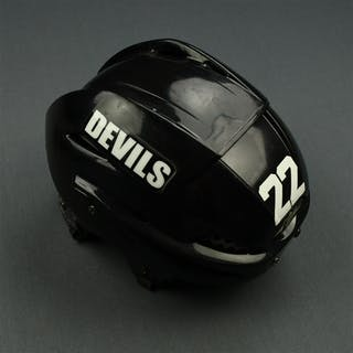 Boulton, Eric Black Easton Helmet New Jersey Devils 2011-12 #22