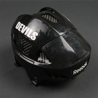Mair, Adam Black Reebok Helmet New Jersey Devils 2010-11 #11