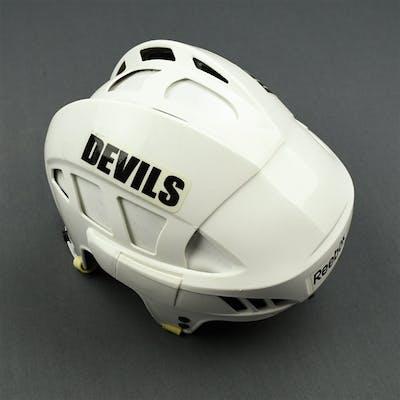 Mair, Adam White Reebok Helmet New Jersey Devils 2010-11 #11