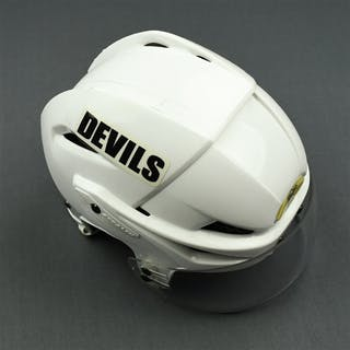Salvador, Bryce White Easton Helmet with Shield New Jersey Devils 2009-10 #24