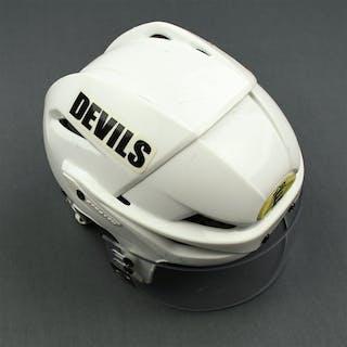 Taormina, Matt White Easton Helmet with Oakley Shield New Jersey Devils