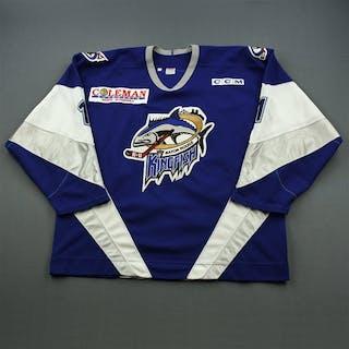 Lenarduzzi, Mike * Blue, ECHL 2000 The New Millennium Patch Baton