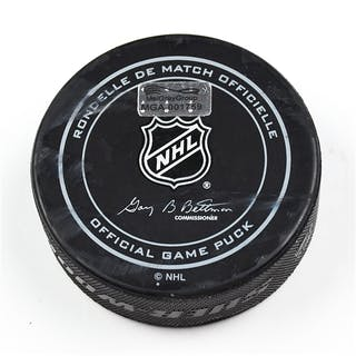 Columbus Blue Jackets Game-Used Puck October 14, 2015 vs. Ottawa Senators