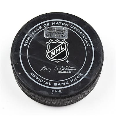 Columbus Blue Jackets Game-Used Puck October 16, 2015 vs. Toronto