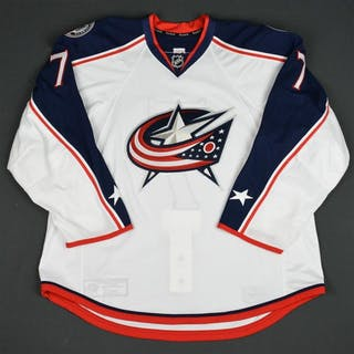 Johnson, Jack White Set 3 - Game-Issued (GI) Columbus Blue Jackets